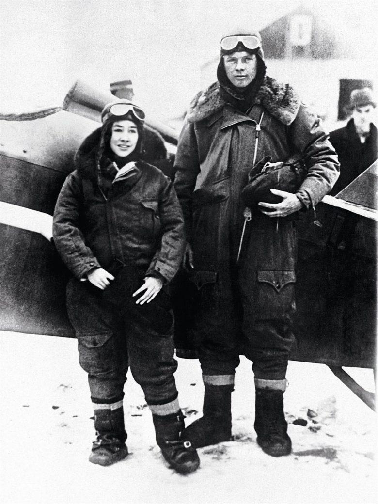 Charles Lindbergh se svou manželkou Anne