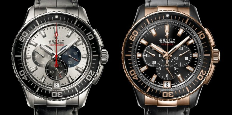 Zenith El Primero Stratos Flyback Striking 10th vs. Stratos Flyback