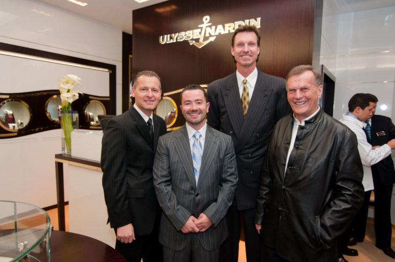 Zleva: Patrik Hoffmann, Bobby Yampolsky, Randy Johnson, Rolf Schnyder